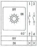 Пакетен електрически прекъсвач (ПЕП) LW26-63/2 M2R, ON-OFF, 220/380 VAC, 63 A, с два контакта  - 3