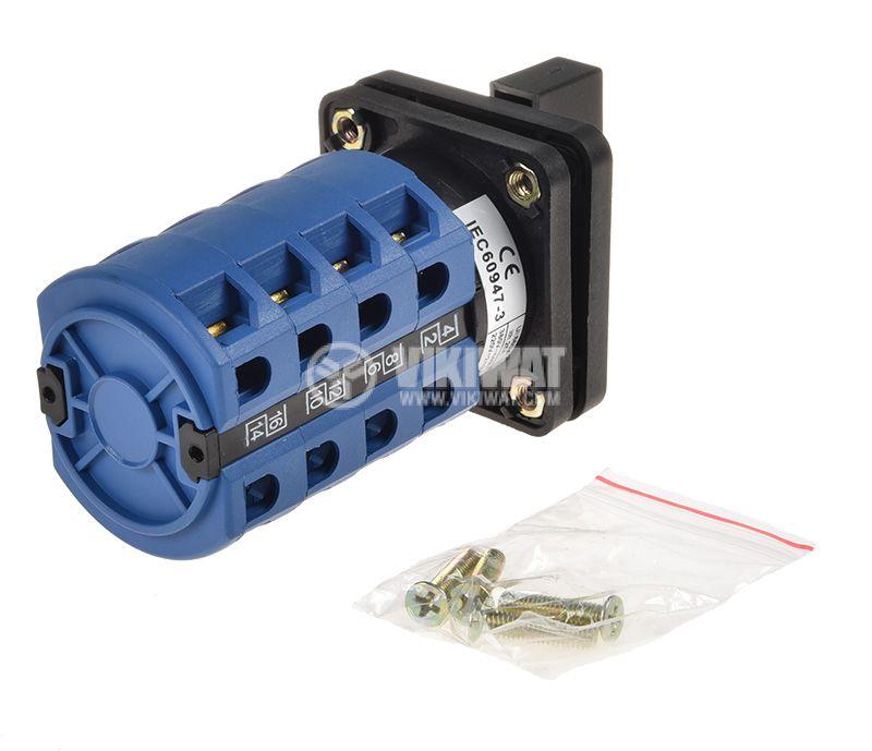 Пакетен електрически прекъсвач (ПЕП) LW26-25A, 25А, 220/380VAC, 4 секции, 8 контакта, 3 позиции - 2