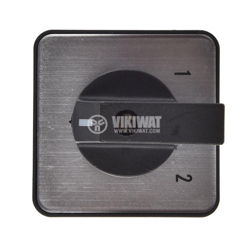 Пакетен електрически прекъсвач (ПЕП) LW26-25A, 25А, 220/380VAC, 4 секции, 8 контакта, 3 позиции - 4