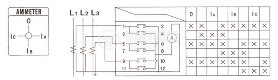 Пакетен електрически прекъсвач (ПЕП) LW26-20/LH3.3 M1I, 0-R-S-T, 220 VAC / 380 VAC, 20 A - 4