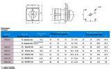 Пакетен електрически прекъсвач, незадържащ в позиции 1 и 2, (ПЕП) LW26-20/B60306.3 M1I, 1-0-2, 220/380 VAC, 20 A - 4
