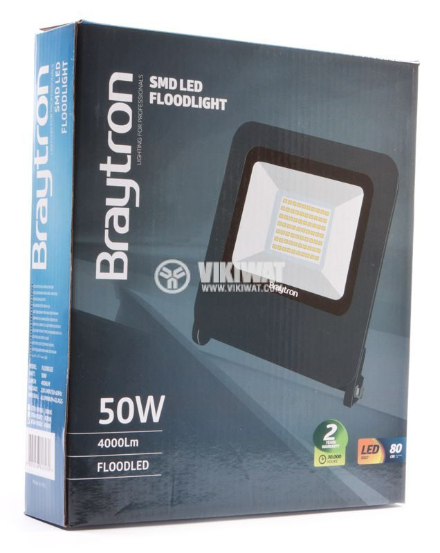 LED floodlight 50W, 220V, IP65, 3000K, warm white, BL60-5005 - 5