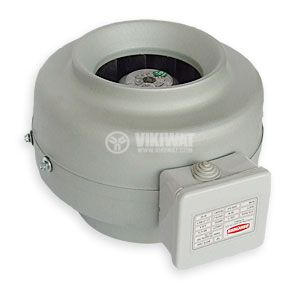 Inline Duct Blower BDTX 100, 220VAC, 75W, 205m3/h, Ф100mm - 2