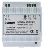 Захранващ блок за DIN шина 24VDC, 1.5A, 30W, VDR30-24