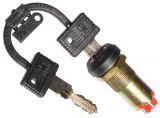 Превключвател с ключ, 250VAC, 10A, 2xNO