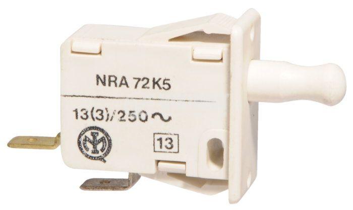 Бутон NRA 72K5, 250VAC, 3A, SPST, NO, незадържащ, бял - 1