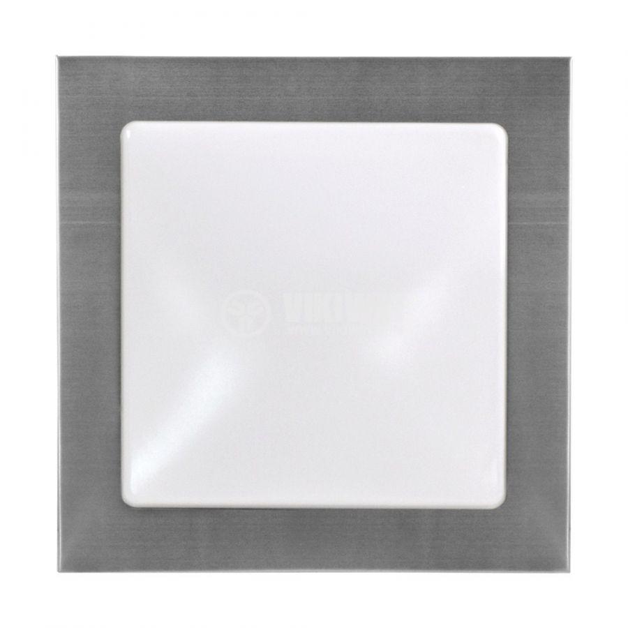 LED lighting fixture VILLA 15W, square, 220VAC, 1150lm, 6400K, cool white, metal frame,  BH20-0528 - 3
