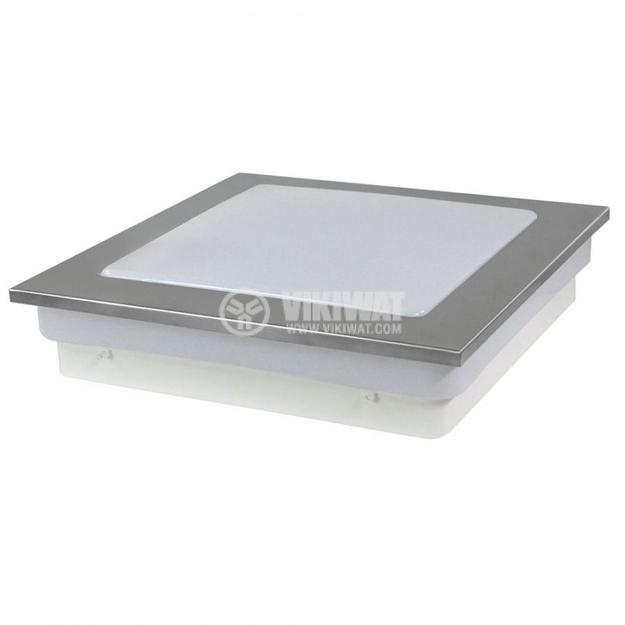 LED lighting fixture VILLA 15W, square, 220VAC, 1150lm, 6400K, cool white, metal frame,  BH20-0528 - 5