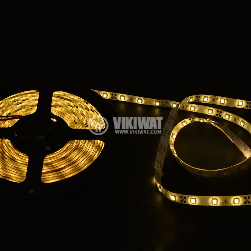 LED лента ECOLINE 3528, 60LED/m, 4.8W/m, 12VDC, IP65, влагозащитена, топло бяла, BS45-0200 - 2