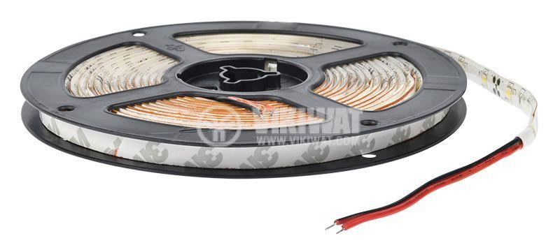 LED лента ECOLINE 3528, 60LED/m, 4.8W/m, 12VDC, IP65, влагозащитена, топло бяла, BS45-0200 - 3