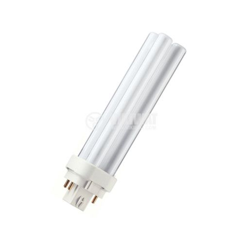 Compact Fluorescent lamp PL, 18 W, 4P, 220 VAC, cool white - 1