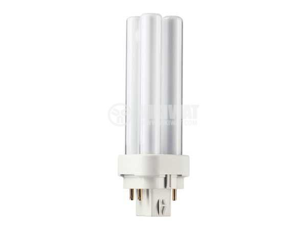 Compact Fluorescent lamp PL, 18 W, 4P, 220 VAC, cool white - 2