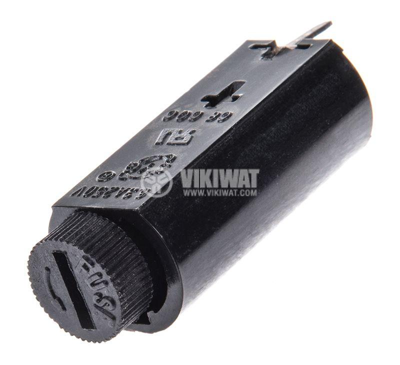 Fuse holder, S-106B, 5x20mm, 250V, 10A - 2