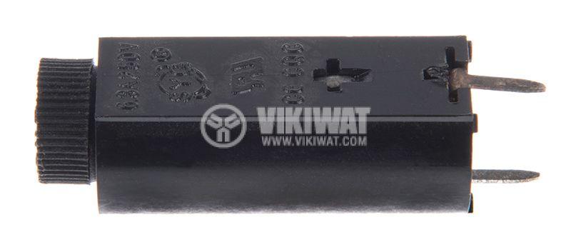 Fuse holder, S-106B, 5x20mm, 250V, 10A - 3