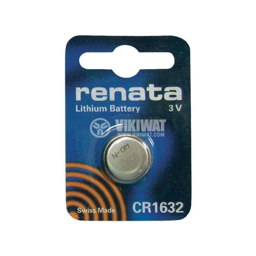 Плоска батерия CR1632, 3V, 137mAh - 2