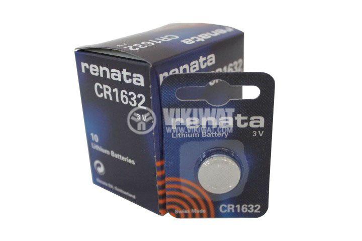 Плоска батерия CR1632, 3V, 137mAh - 3