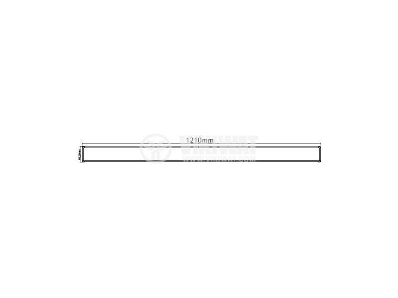 LED lighting fixture 1x36W, 220VAC, 6400K, cool white, 1200mm - 3