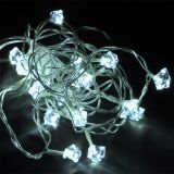 Christmas decoration rope type, diamonds, 4.5m, 4.8W, cold white, IP20, 20 LED, indoor installation