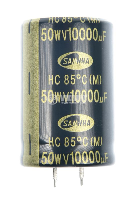 Capacitor electrolytic 10000uF, 50V, THT, Ф30x46mm - 1