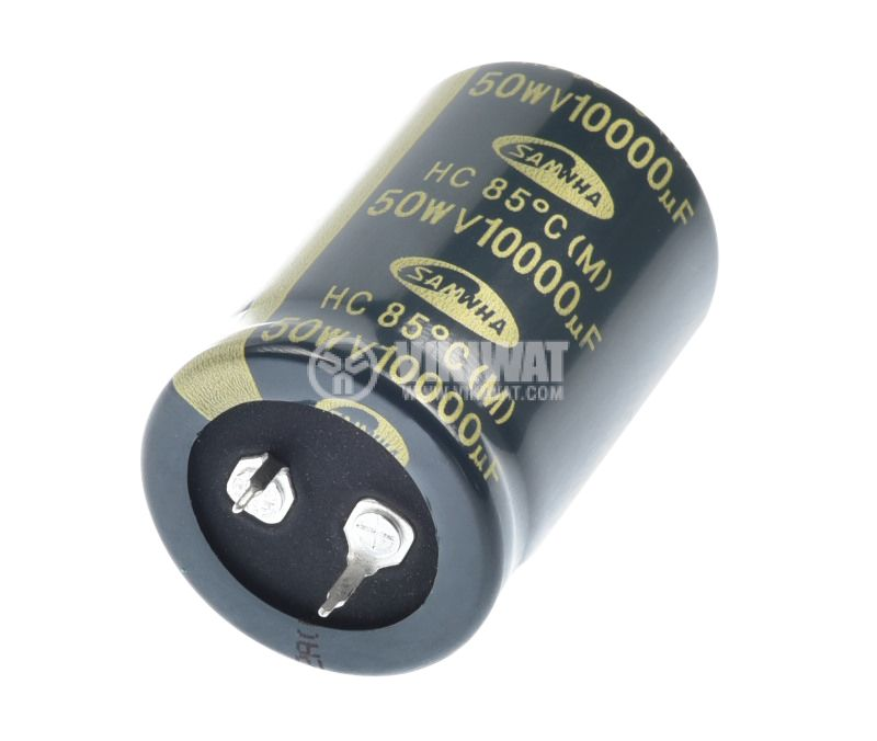 Capacitor electrolytic 10000uF, 50V, THT, Ф30x46mm - 2