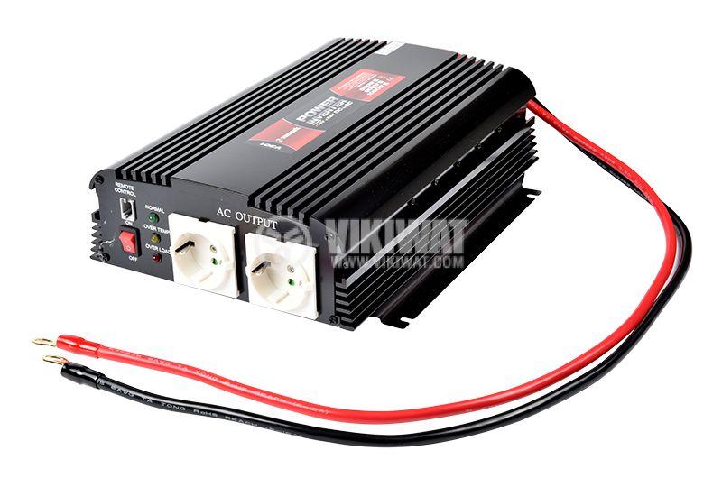 Инвертор V301-1000W-12V, 12VDC - 220VAC, 1000W, модифицирана синусоида - 1