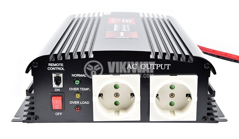 Инвертор V301-1000W-12V, 12VDC - 220VAC, 1000W, модифицирана синусоида - 2
