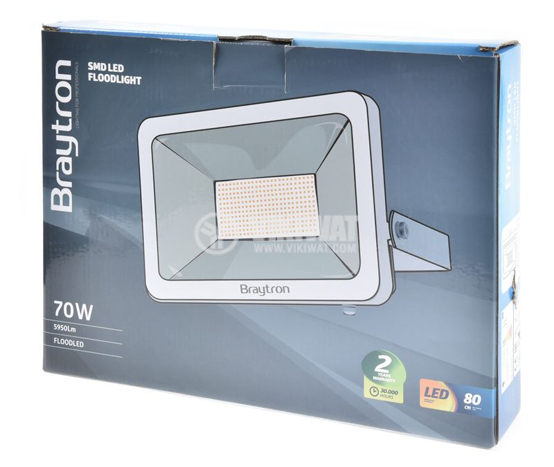 LED floodlight 70W 3000K - 6