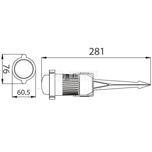 LED spike light earth rod SPOTLUX, 9W, 220VAC, 720lm, 3000K, warm white, IP65, waterproof, BT25-00102 - 2