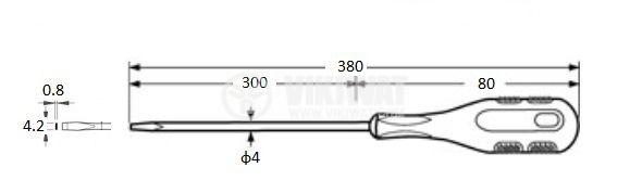 Отвертка, права, 9018-4x300, 4x300mm, Cr-V - 2
