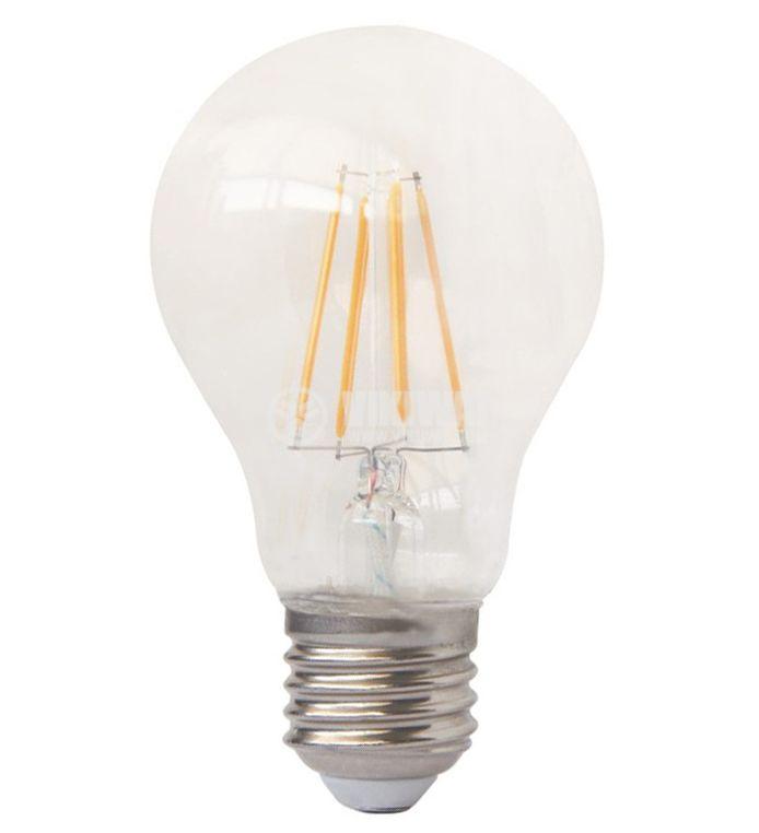 LED лампа FILAMENT 6W, E27, 220VAC, 600lm, 3000K, топло бяла, BA38-00620 - 8