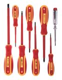 Set of insulated screwdrivers, 8 pieces, Troy T22306