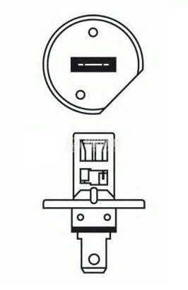 Автомобилна халогенна лампа, 12VDC, Н1, 55W, Р14.5s - 2