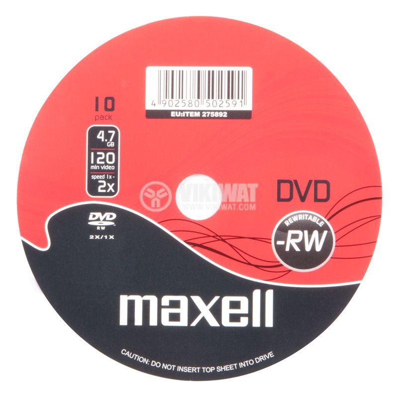 DVD+RW maxell, 120min, 4.7GB, презаписваем - 1