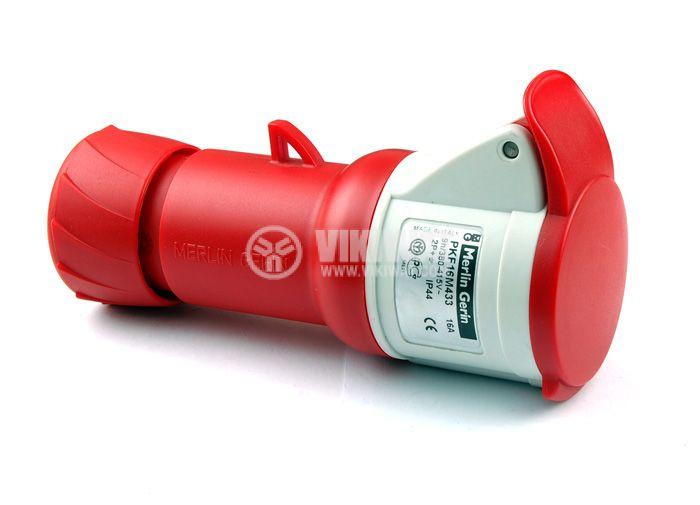 Индустриален съединител, PKF 16M433 , 380 - 415 AC V/16A, женски