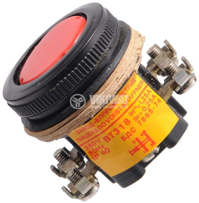 Push button, BT318, 380V, 2NC - 1