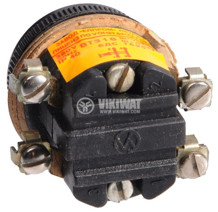 Push button, BT318, 380V, 2NC - 3