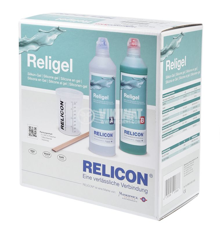 Two-component silicone gel Religel, 1000ml - 4