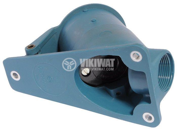 Индустриален съединител, комплект пластмасово шуко и метален щепсел, 380V/AC - 3