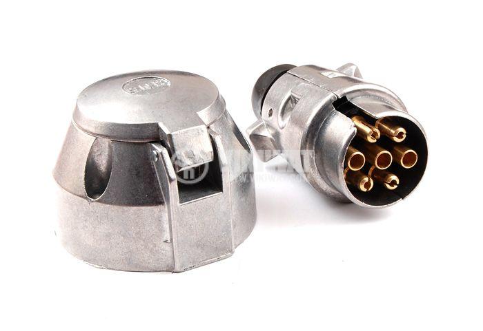 Комплект метални мъжка и женска букса за автомобилно ремарке , ALSA , 03 RF 0201 , 12V DC