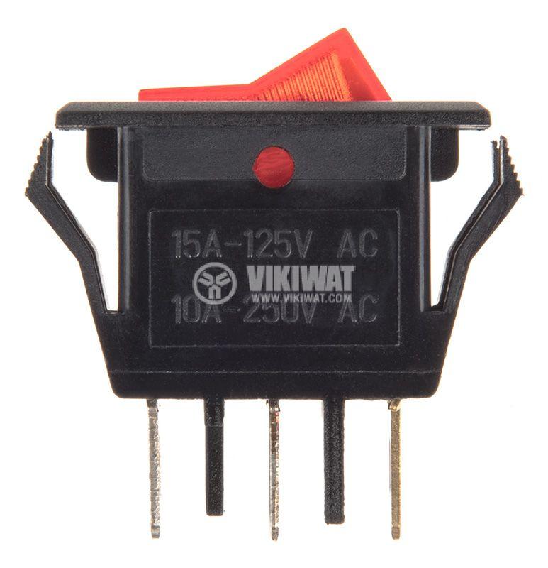 Клавишен превключвател, 10A/250VAC, SPST - 2