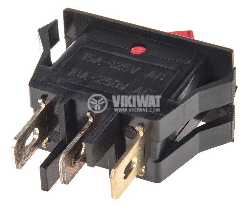 Клавишен превключвател, 10A/250VAC, SPST - 3