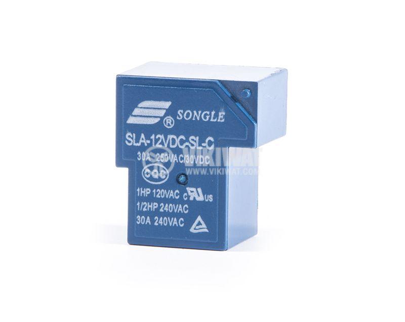 Eлектромагнитно реле SLA-12VDC-SL-C, 1NO+1NC(SPDT), 30VDC, 30A, 250VAC, PCB - 1