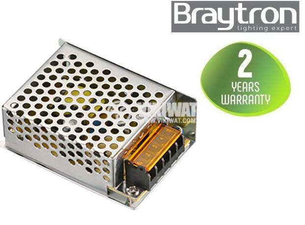 LED захранване 24VDC, 25W, 220VAC, 1A, IP20, невлагозащитено, BY02-10250 - 1