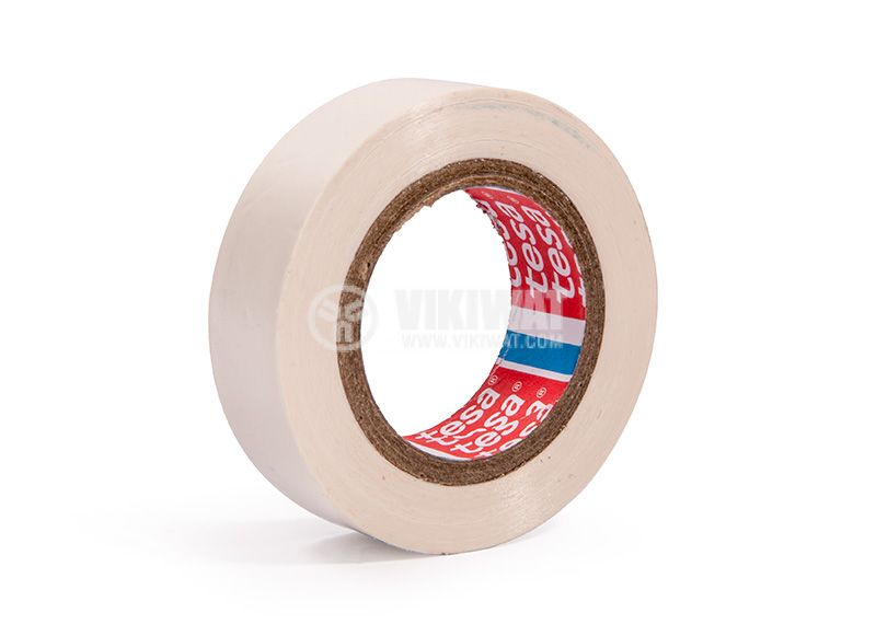 Electrical tape, white, 10m, 15mm - 2