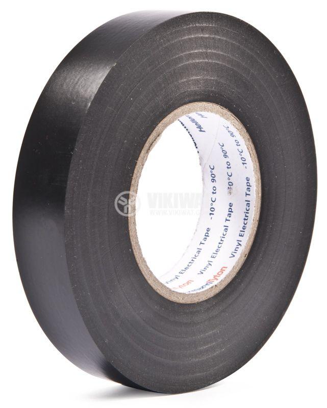 PVC ИЗОЛАЦИОННА ЛЕНТА HTAPE-FLEX15-15x25-PVC-BK, 15MM X 25M, черна - 1