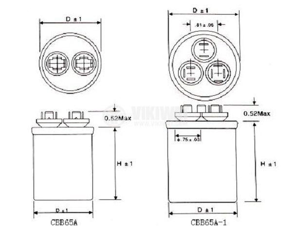 product_large_37305 motor run capacitor cbb65 450vac 5uf 35uf 85 c terminals cbb65a-1 wiring diagram at virtualis.co