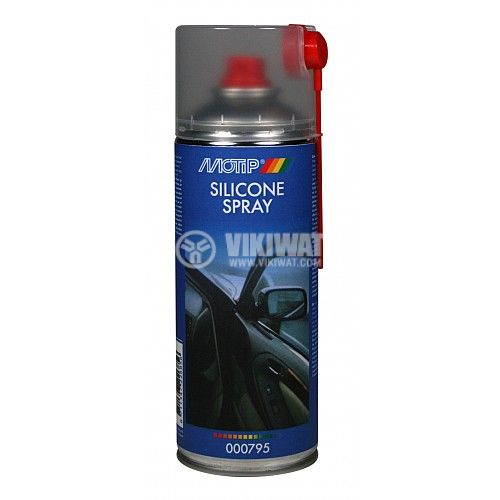 Silicone spray lubricant protection for plastics and rubber, eliminates squeaking 400ml