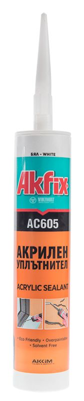 Акрилен уплътнител Akfix AC605, бял