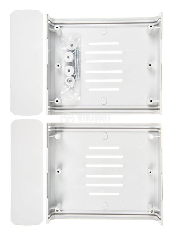 Кутия Z-4W, полистирен, сива, 129.8x149x50mm - 2