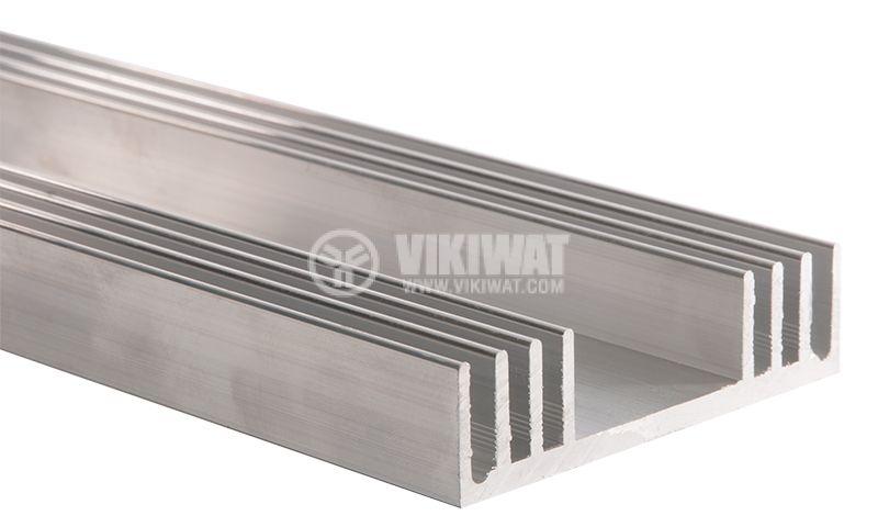 Алуминиев радиатор за охлаждане 250mm, 78x20mm - 1